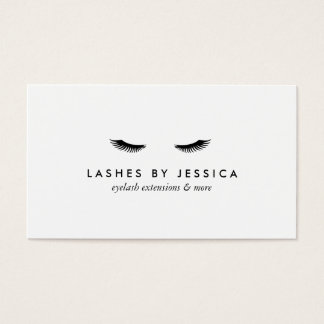 Glam Eyelashes Black and White Business Card