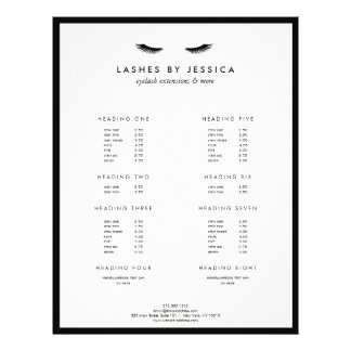 Glam Eyelashes Classic Black and White 21.5 Cm X 28 Cm Flyer