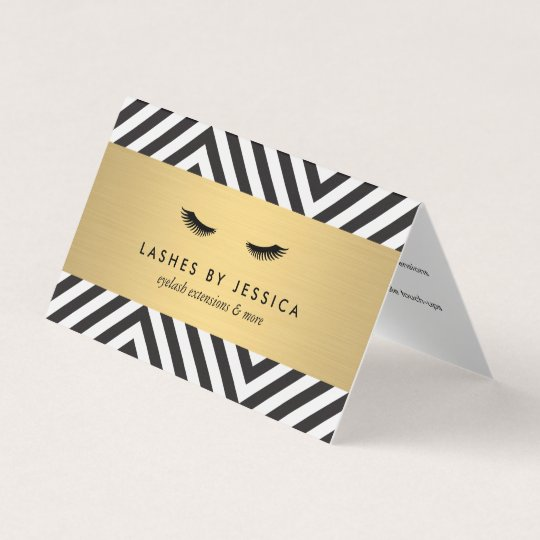 Glam eyelashes with bold pattern aftercare folded business card glam eyelashes with bold pattern aftercare folded business card reheart Images
