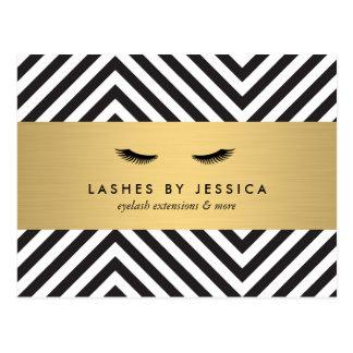 Glam Eyelashes with Bold Pattern Postcard