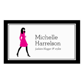 Glam Fashion Girl Style Blogger, Boutique Pack Of Standard Business Cards