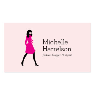 Glam Fashion Girl Style Blogger, Boutique Pink Pack Of Standard Business Cards
