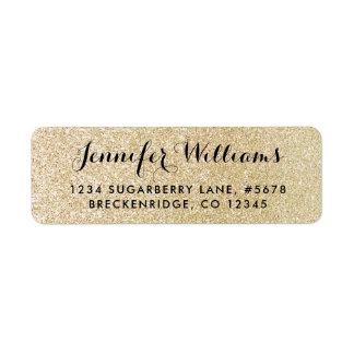 Glam FAUX Gold Glitter Look Return Address Label