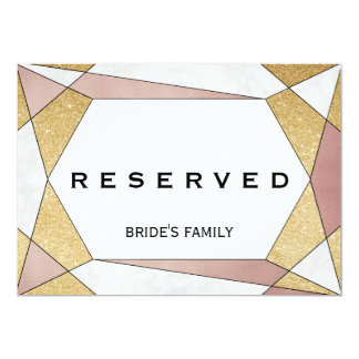 Glam Geometric Diamond Reserved Sign Card