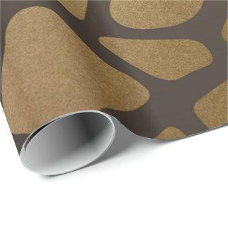 Glam Giraffe Skin Golden Shiny Wrapping Paper