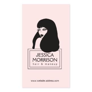 Glam Girl Lt Pink Hair Salon Beauty Business Card