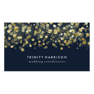 Glam Glitter | Chic Faux Gold Foil Pack Of Standard Business Cards