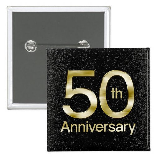 Glam Gold 50th Anniversary Pins