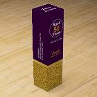 Glam Gold and Purple Custom Birthday Wine Box