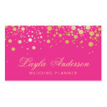 Glam Gold Dots Decor - Trendy Girly Hot Pink Pack Of Standard Business Cards