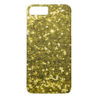 Glam Gold Faux Glitter Yellow Gold Tone iPhone 8 Plus/7 Plus Case