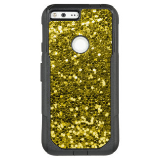 Glam Gold Faux Glitter Yellow Gold Tone OtterBox Commuter Google Pixel XL Case