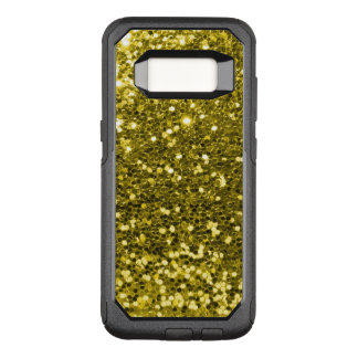 Glam Gold Faux Glitter Yellow Gold Tone OtterBox Commuter Samsung Galaxy S8 Case