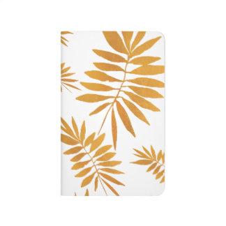 Glam gold fern journal
