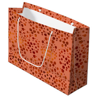 Glam gold polka dots pink large gift bag