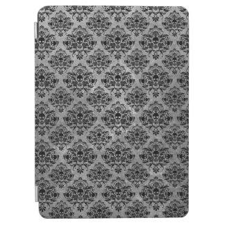 Glam Goth Mini Skull Damask Pattern Black Gray iPad Pro Cover