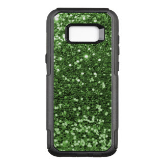 Glam Green Faux Glitter Fun Print OtterBox Commuter Samsung Galaxy S8+ Case