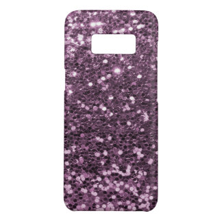 Glam Lavender Purple Faux Glitter Print Case-Mate Samsung Galaxy S8 Case
