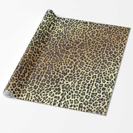 Glam Leopard Print and Faux Gold Foil Wrapping