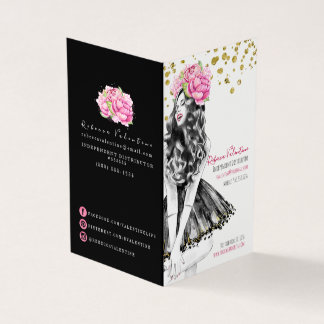 Glam Lip Product Distributor Business Card