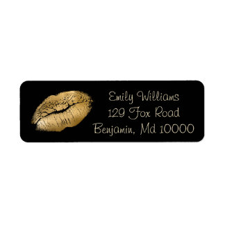 Glam Lips Black and Gold