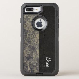 Glam Marble Granite Shimmer Elegant Designer Style OtterBox Defender iPhone 8 Plus/7 Plus Case