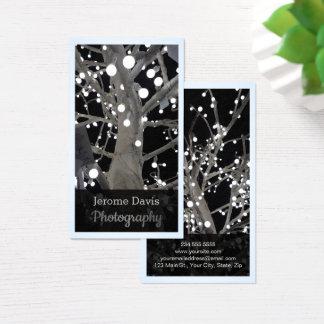 Glam Midnight Light Bulb Photography Business Card