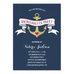 Glam Nautical Bachelorette Party 13 Cm X 18 Cm Invitation Card