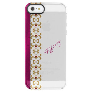 Glam Orchid and Gold Jewel Look iPhone 5S Case