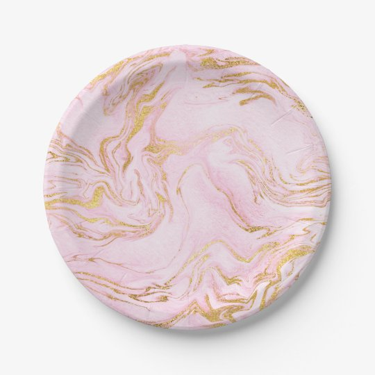 Glam Pink Rose Gold Marble Golden Vip Metallic