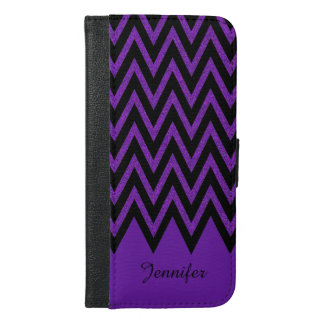 Glam Purple Chevron iPhone 6 Plus Wallet Case