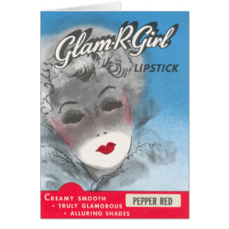 Glam R Girl Greeting Card