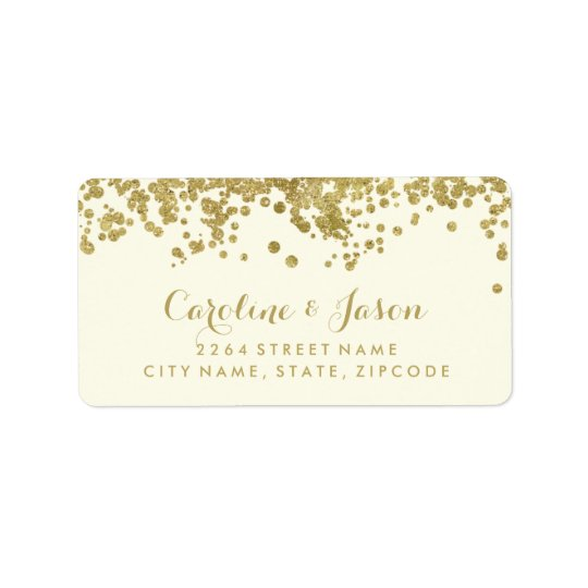Glam Return Address Labels | Chic Faux Gold