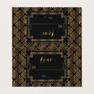 Glam Roaring 20's Great Gatsby 1920s  Wedding Place Card