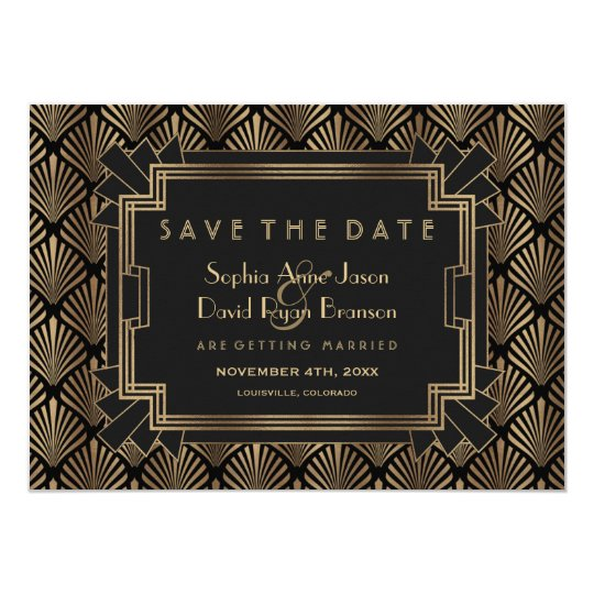 Glam Roaring 20's Great Gatsby Save The Date