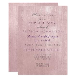 Glam Rose Ballet Pink Pastel Purple Bridal Shower Card
