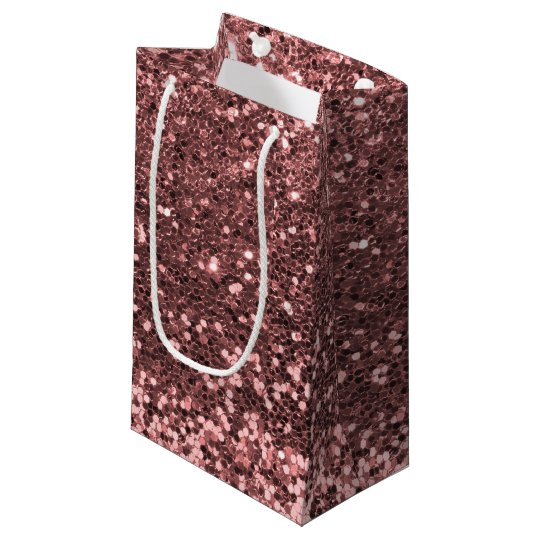 Glam Rose Gold Pink Faux Glitter Print Sparkles