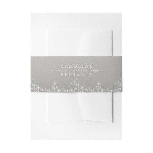Glam silver glitter deco vintage wedding invitation belly