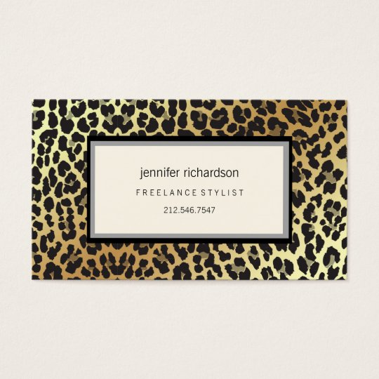 Glam Stylish Chic Leopard Print and Gold Foil