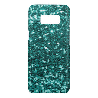 Glam Teal Blue Faux Glitter Print Case-Mate Samsung Galaxy S8 Case