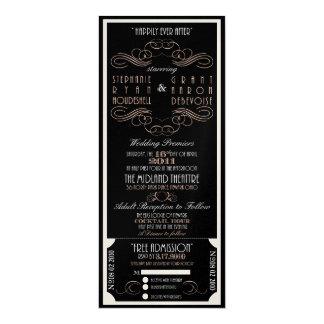 "glam ticket invite for Stephanie 4"" X 9.25"" Invitation Card"