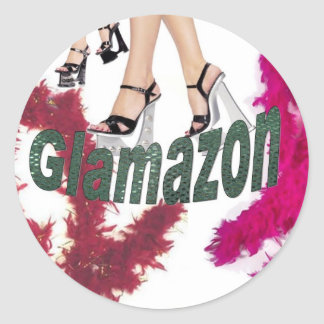 Glamazon Round Sticker
