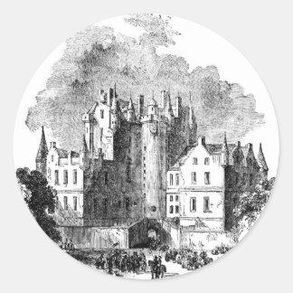 Glamis Castle Round Sticker