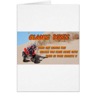 GLAMIS DUNES GREETING CARD