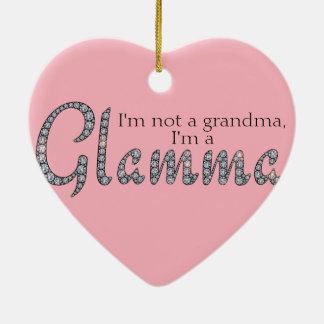 Glamma bling heart ornament