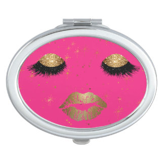 Glamor Eyes and Lips Compact Mirror