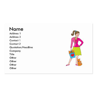 Glamor Girl Double-Sided Standard Business Cards (Pack Of 100)