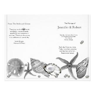 Glamorous Beach in Silver Wedding Program Full Color Flyer