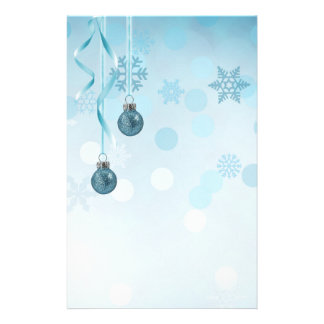 Glamorous Blue Christmas Ornaments - Stationery