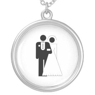 glamorous Bride and Groom Pendants